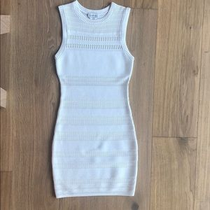 Bebe white knit dress